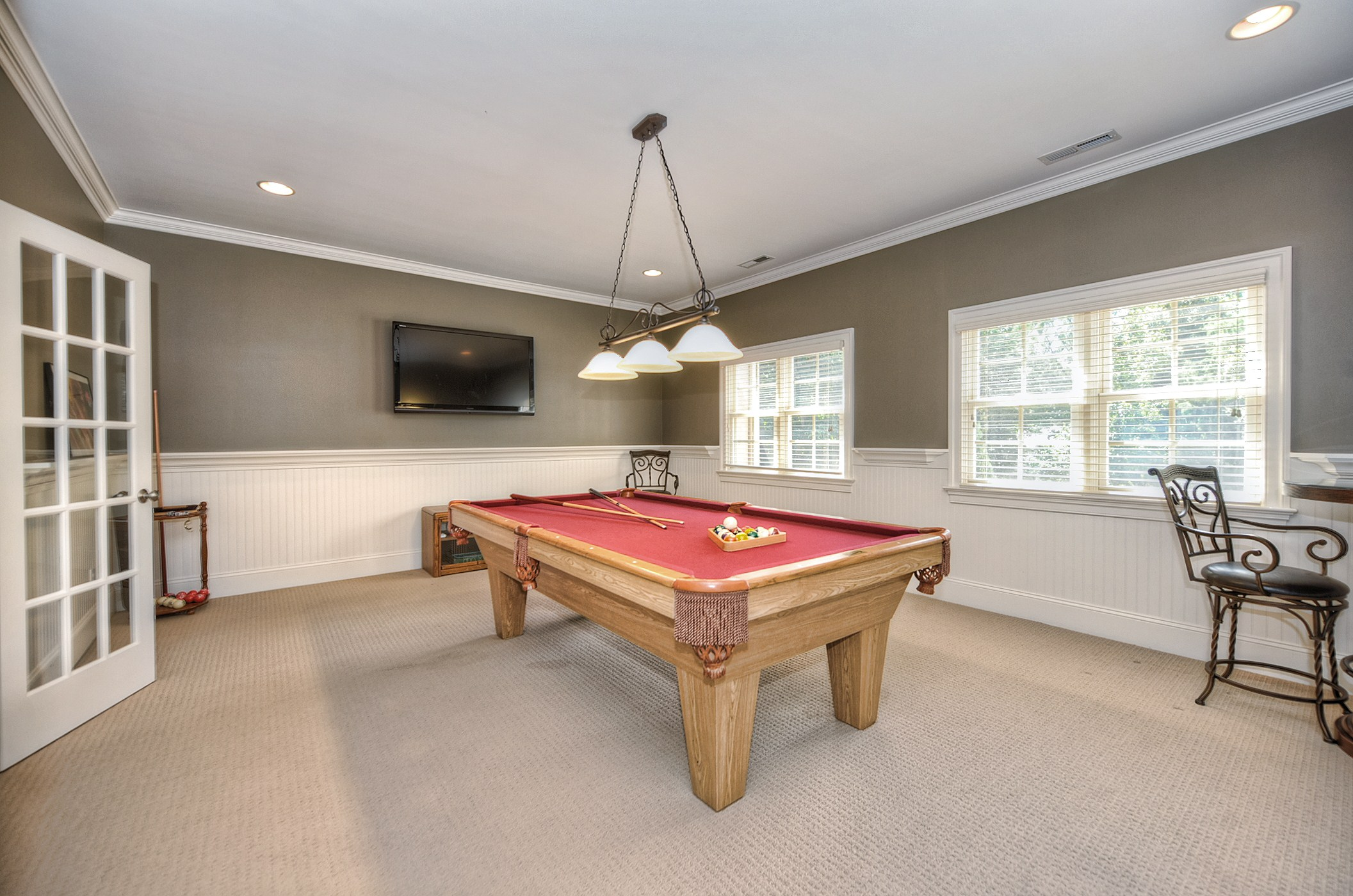 Basement Carpet Billiards