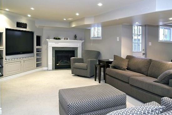 This is a picture of a beautifull carpeted basement by directcarpet.ca
