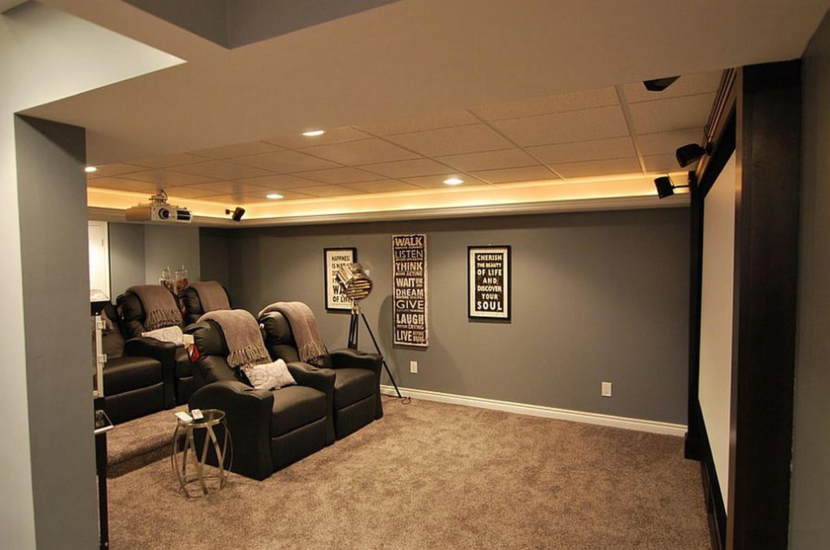 Basement Carpet Theatre Room