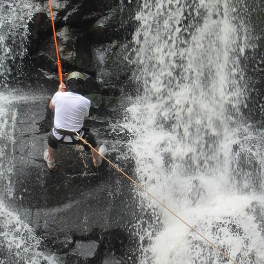 Rappel waterfall