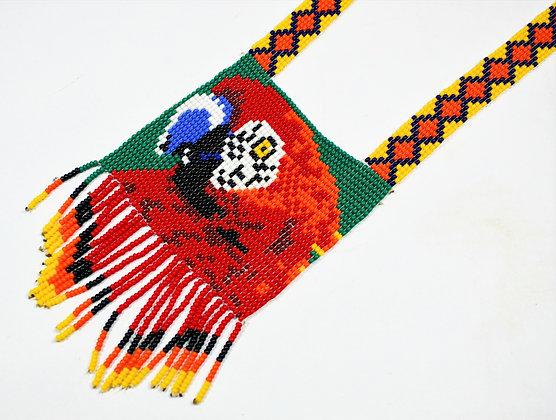 Colar Yekuana de miçangas - Arara