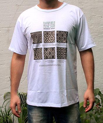 Camisa grafismo Waimiri Atroari masculina - branca