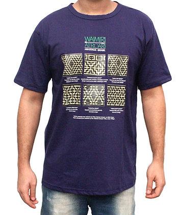 Camisa grafismo Waimiri Atroari masculina - roxo
