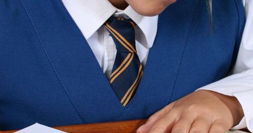 Boy wearing school tie
