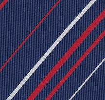Close up of polyester twill tie finish