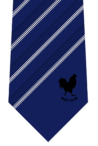 Image of woven club tie in silk