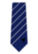 Woven striped golf tie with tip motif