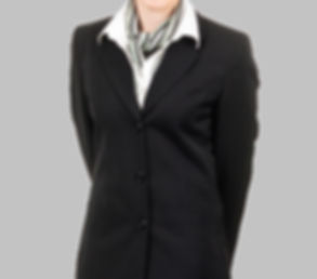 company scarf on woman