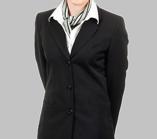 company scarf on woman