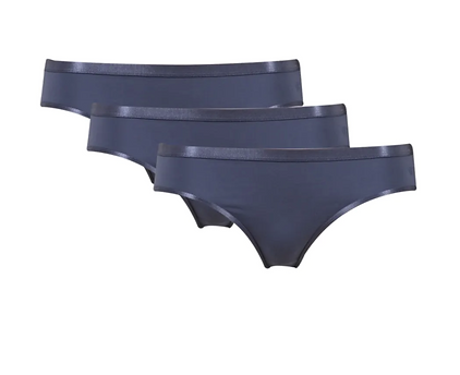 Bikini slip wit/blauwgrijs/zwart 3pack