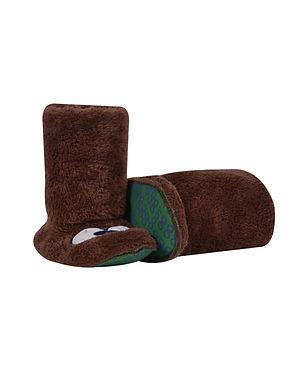 Pantoffels bruin 👀