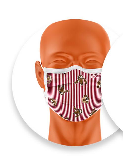 Woody mondmasker Teckel