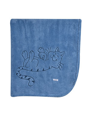 Plaid Kat blauw