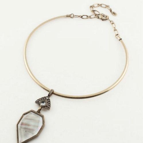 White Shell Pendant Choker Necklace