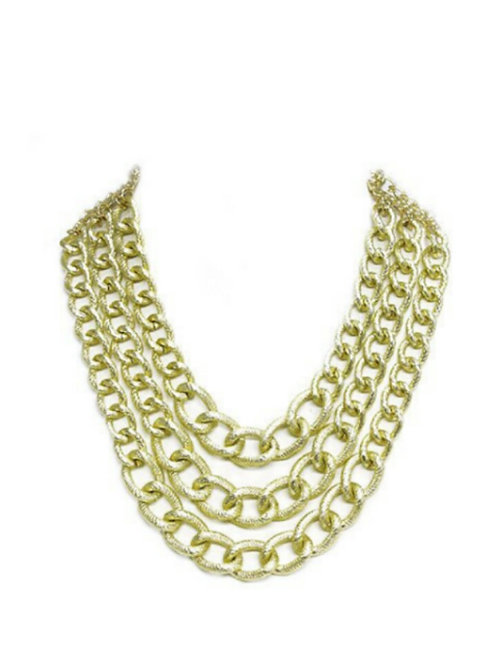 All Gold Chainlink Necklace