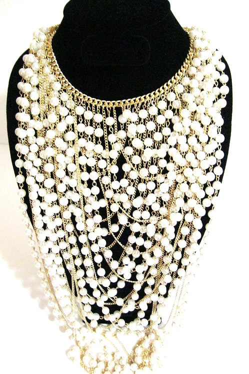 Pearl Bedazzled Necklace