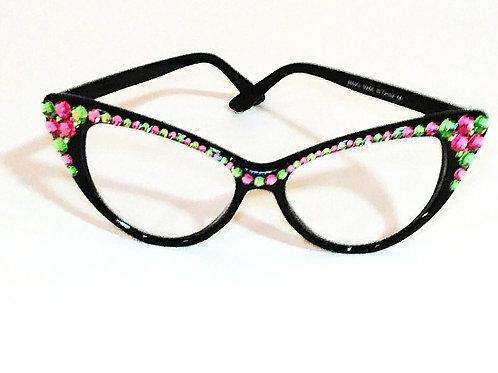 Confetti Cat-Eye Crystal Glasses