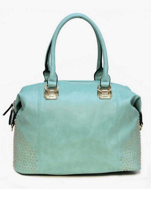Goldtone Luxe Studded Handbag Tote