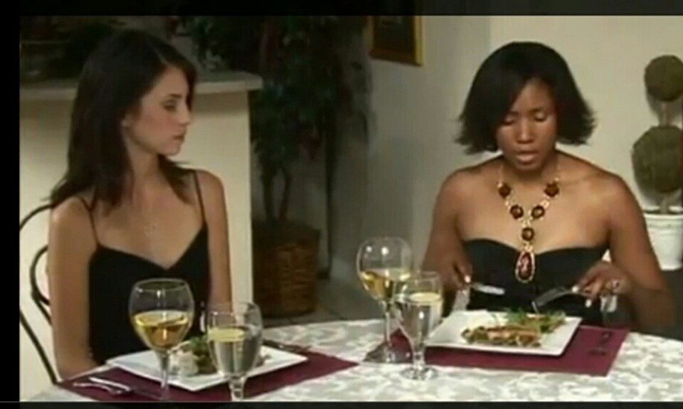 Yalanda Rene Jacques demonstrating proper table etiquette