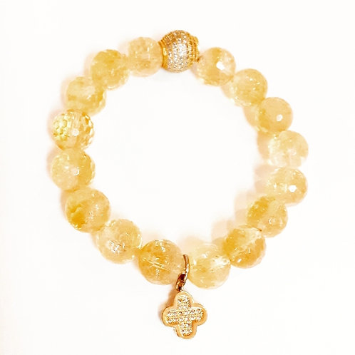 "Citrine Semi-Precious Bracelet ""Crystal Ball"""
