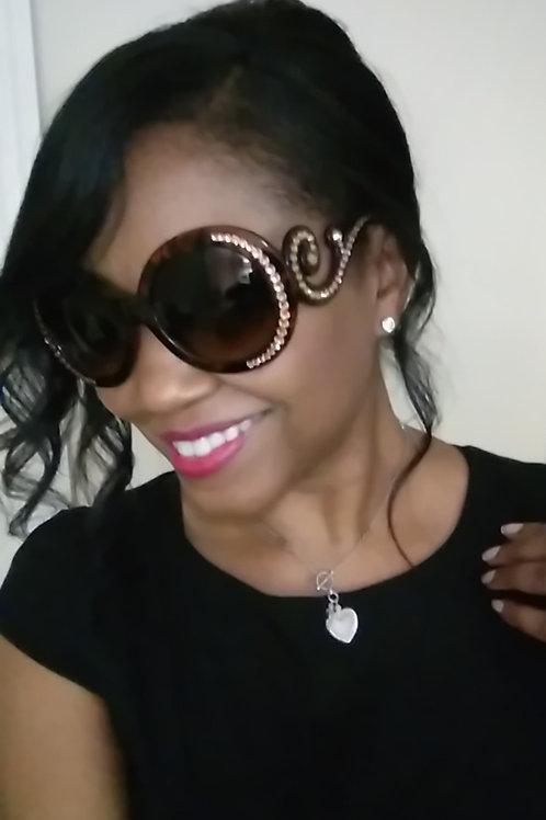 Superstar Scroll Crystal Sunglasses