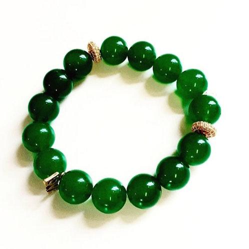 "Green Onyx Semi-Precious ""Love"""