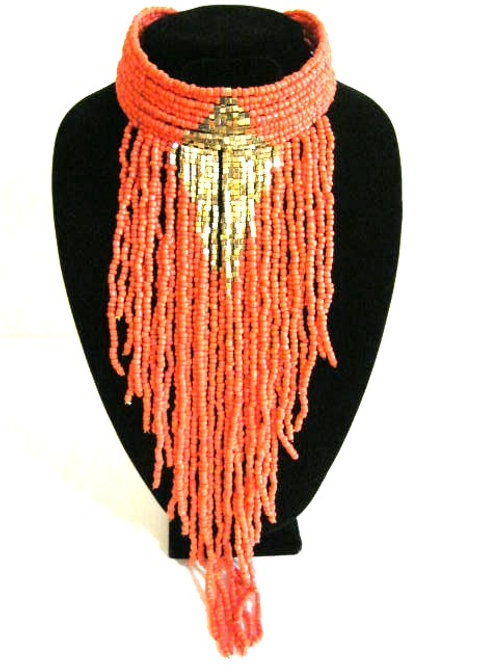 Fashion Week Beaded Fringe Choker