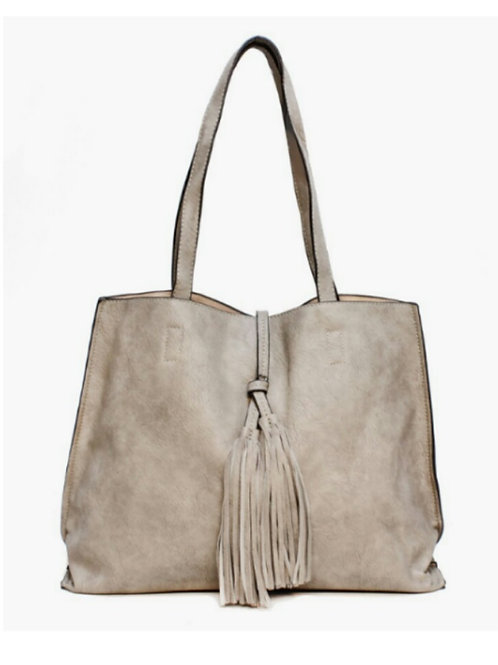Double Tassel Front Fashion Tote