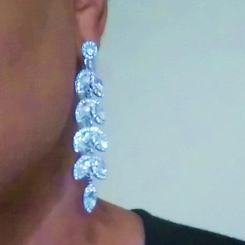 Crystal Leaf Earring