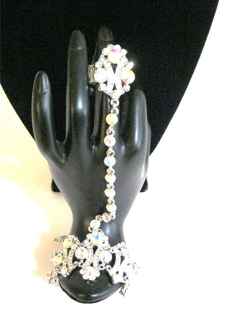 Crystal Flower Ring Bracelet