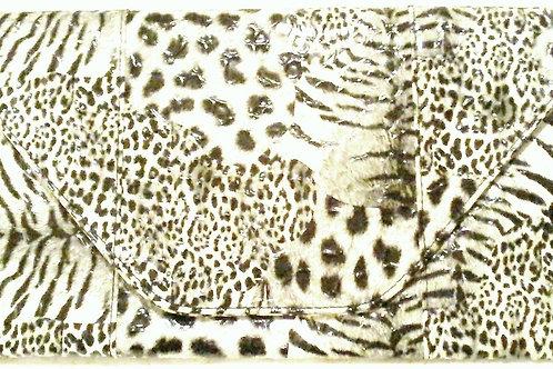Black & White Leopard Print Clutch