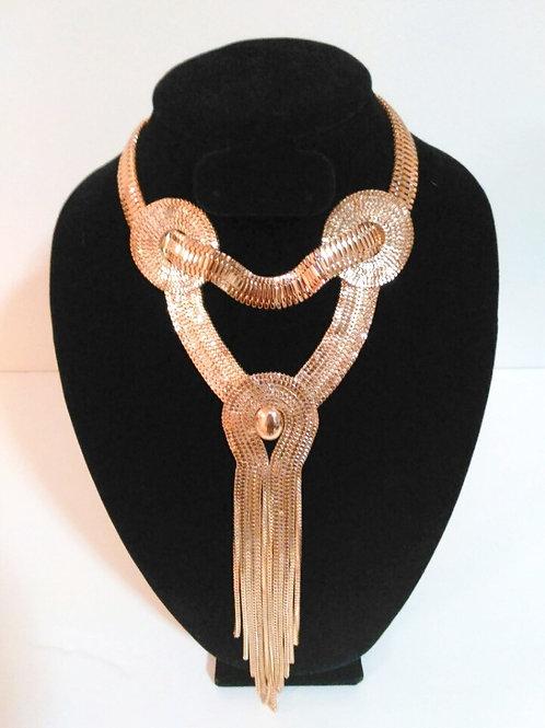 Egyptian Fringe Gold Necklace