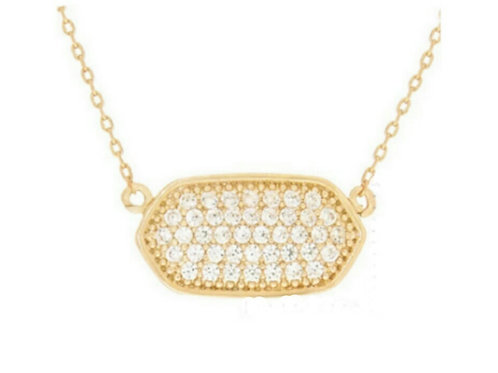 Gold Crystal Charm Necklace