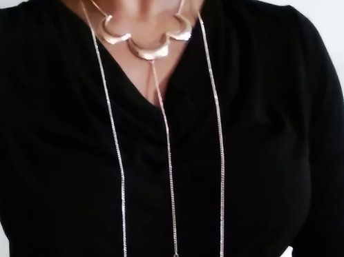 Three Half-Moon Necklace