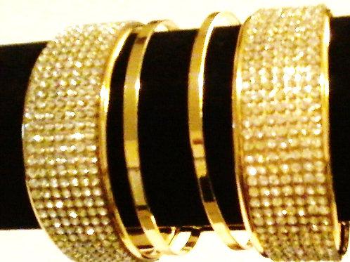 Wide Cuff Cut-out Bracelet