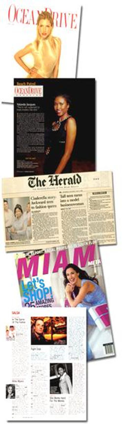 Magazine and newspaper articles on CEO of Polishe Beauties. Ocean Drive Magazine, The Miami Herald, Miami Metro Magazine, South Florida Business Journal