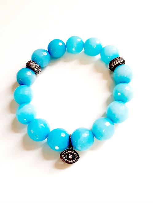 "Turquoise Semi-Precious Bracelet ""Eye"""