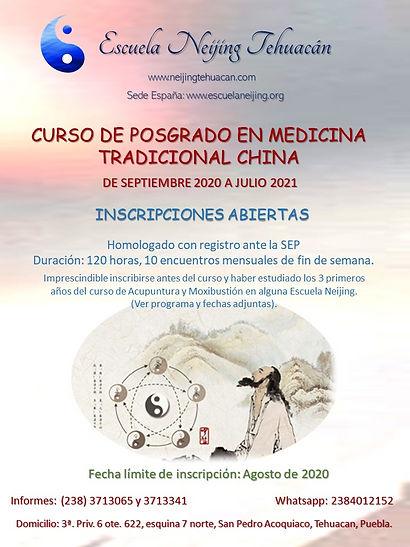 Posgrado en Medicina Tradiiconal China