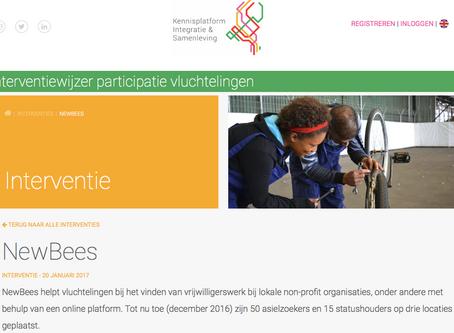 NewBees in nieuw interventiewijzer participatie vluchtelingen door KIS