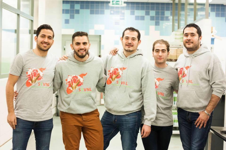 Bakri with other SYVNL volunteers