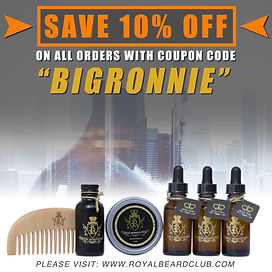 Royal Beard Club 10% off!!