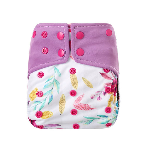 """""""Little Bloomers"""" Coffee Fibre Nappy (including coffee insert)"""