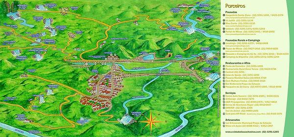 Mapa turístico de Santa Rita de Jacutinga