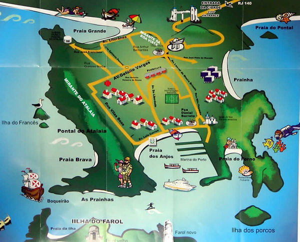 Mapa Turístico de Arraial do Cabo