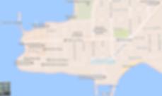 Mapa turístico de Colonia del Sacramento no Uruguai
