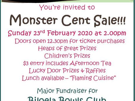 Cent Sale 23rd February 2020
