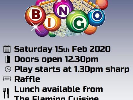 Bingo 15th February 2020