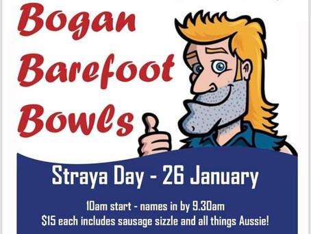 Australia Day Bogan Barefoot Bowls