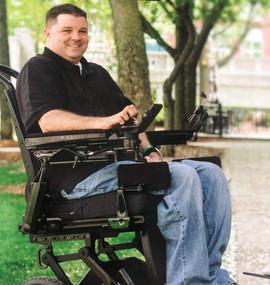 American Mobility Project iBOT recipient, Derek O'Brien.