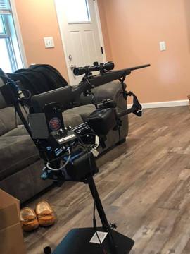 Jefferey's adaptive gun set up. Nice!